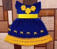 Crochet Dress Girl, Crochet Girls, Crochet Baby Clothes, Crochet For Kids, Baby Girl Items, My Baby Girl, Crochet Stitches, Knit Crochet, Crochet Hats