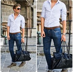 Zara Shirt, Cheap Monday Skinny Jeans, Zara Bag, Gucci Watch