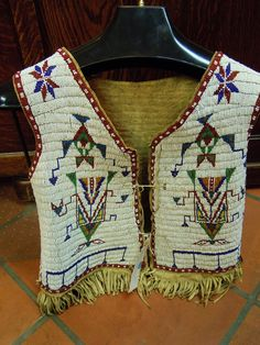 plain indian beadwork | NORTHERN PLAINS MAN'S FULLY BEADED VEST 1880′s | Cowboy and Indian ...