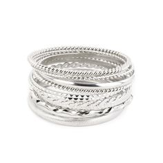 I love the Rain Mixed Texture Bangles from LittleBlackBag