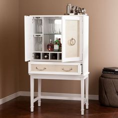 Starlynn Bar Cabinet Southern Enterprises Cabinets Accent Cabinets & Chests Accent Furnitu