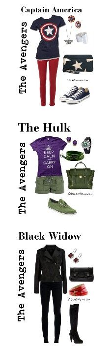 The most accurate outfits I have ever seen for the avengers. And HAHAHA!! Hulk's shirt!""