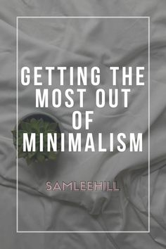 It's not just about owning less stuff. Minimalism is about intentional living, taking control of your life through what you allow into your space Sam Lee Hill I Love Books, My Books, Appreciate What You Have, Clutter Free Home, Make Good Choices, Just Run, Make Me Happy, You Can Do, Lifestyle Blog