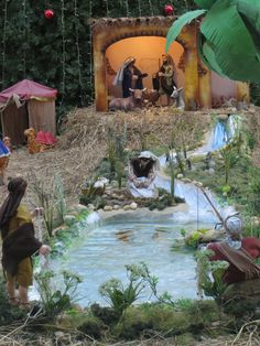 pin-by-blanca-allen-on-nativity-christmas-decorations.jpg - Christmas Ideas - pin-by-blanca-allen-on-nativity-christmas-decorations. Christmas Crib Ideas, Church Christmas Decorations, Christmas Village Display, Merry Christmas, Christmas Nativity Scene, Altar Decorations, Christmas Villages, Christmas Home, Christmas Crafts
