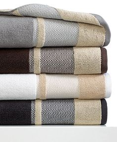 MASTER BATHROOM:  Kassatex Bath Towels, Saville Collection, additional colors available at Macy's