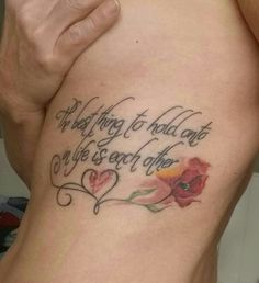 With a fingerprint of my husband  @quotes tattoo@ Audry Heburn quote @Ribtattoo @firsttattoo