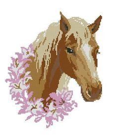 Horse cross stitch kit or pattern Cross Stitch Horse, Beaded Cross Stitch, Cross Stitch Alphabet, Cross Stitch Animals, Modern Cross Stitch, Cross Stitch Embroidery, Embroidery Patterns, Cross Stitch Patterns, Pixel Art