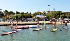 Groupon - $ 24 for Two-Hour Kayak, Canoe, SUP, or Aqua-Cycle Rental at Carlsbad Lagoon (Up to $50 Value)  in Carlsbad. Groupon deal price: $24