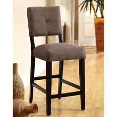 @Overstock.com - Catherine Espresso Counter-height Stools (Set of 2 - Make sure you have seating for friends who come to coffee with this set of two pub-style counter-height stools. With the chairs' warm espresso finish, they're sure to match any contemporary decor, and their seats and backs are padded for comfort.  http://www.overstock.com/Home-Garden/Catherine-Espresso-Counter-height-Stools-Set-of-2/5710992/product.html?CID=214117 $168.29