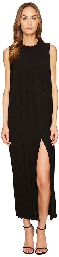 Neil Barrett Sleeveless Pleated Long Dress Women's Dress