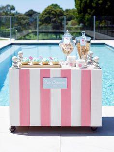 Ice Cream Bar.  Great Party Idea!