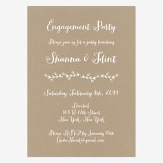 Rustic Country Engagement Party Invitations www.lovevsdesign.com