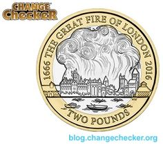 The Great Fire is one of the most well-known disasters to hit London, when an accidental spark from a baker's oven on Pudding Lane led to the destruction Rare British Coins, Rare Coins, Great Fire Of London, The Great Fire, Bullion Coins, Silver Bullion, Mint Coins, Silver Coins, English Coins