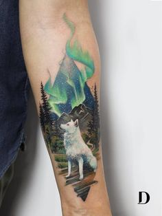 If you walk into a tattoo studio, you can easily see that there are virtually no limits to tattoo designs. and, as the work of a tattoo artist is much more than si Tattoo Arm Frau, Wolf Tattoo Sleeve, Arrow Tattoo, Sleeve Tattoos, Wolf Tattoo Forearm, Tattoo Wolf, Mutterschaft Tattoos, Body Art Tattoos, Fish Tattoos