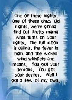 One of These Nights ~ The Eagles