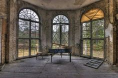 To afford a house that would include a room strictly for a piano, I'd probably have to purchase it in this condition