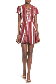 Image of Lovers + Friends Stripe Fit & Flare Dress