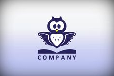 Logo for sale: Book Owl Logo
