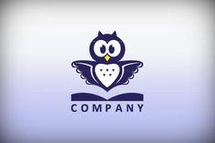 Logo for sale: Book Owl Logo