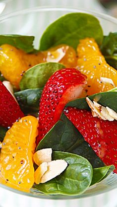 Strawberry Poppyseed Spinach Salad