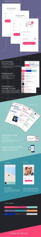 SPOTTLE geo messenger app on Behance