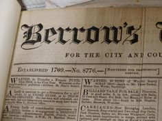Historical archive of Berrow's Worcester Journal is in safe hands (From Evesham Journal) Vintage Newspaper, Worcester, Sheet Music, The Neighbourhood, It Works, Archive, How To Apply, Hands, Journal
