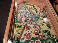 GENCO South Pacific Pinball Machine 1950 Woodrail | eBay