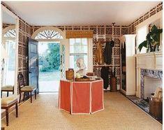 Designer: Michelle Adams. Photo: Patrick Cline. Image: rubiegreen.com. #skirtedtable #tablecloth #orange