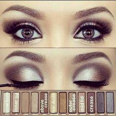 43 Trendy Makeup Tutorial Eyeshadow Natural Urban Decay – night make up Hazel Eye Makeup, Makeup For Brown Eyes, Smokey Eye Makeup, Eyeshadow Makeup, Hazel Eyes, Makeup Brushes, Silver Eyeshadow, Green Eyeshadow, Eyeshadow Palette