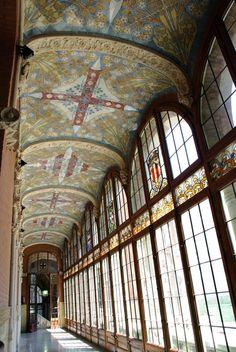Inside Sant Pau Hospital, Barcelona
