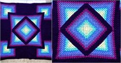 Diamond Granny Crochet Throw [Free Pattern]