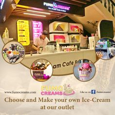#FumoCreams - Choose and Make your own Ice-Cream at our outlet. #IceCreamParlourInDelhi #SmokeIceCream #ColdRollIceCream #IceCrreamShakes #LiquidNitrogenIceCream