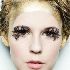 Lace false eyelashes. Love them