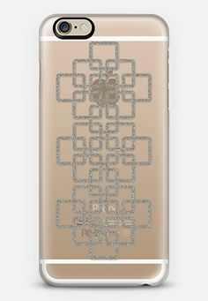 Celtic Silver - Transparent iPhone 6 case Check out my new @Casetify   Make yours and get $10 off your first order using code: ZN4AQG #casetify #case #iphonecase #phonecover #celtic #pattern #celticart #geometric #silver #glitter #sparkle #clear #transparent #transparentcase