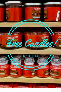 Our Warehouse is FULL! These FREE Candle Samples Must Go! Once they're gone, they're gone! Sign up today for freebies so good you will feel guilty not paying for them! No credit card or purchase necessary.