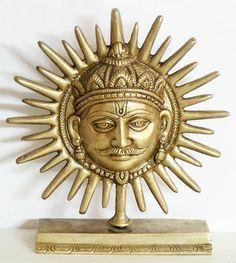 Sun God - Brass Statue