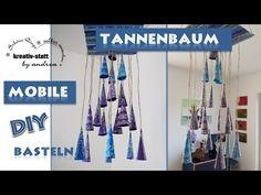 Basteln mit Kindern: Mobile Tannenbaum aus Papierkegeln. Geht ganz einfach und macht richtig gute Laune. Viel Spass beim KREATIV sein. lg Andrea  #diy #BASTELN #DEKO #tannenbaum #mobile #kegel #papier #kstatta.#anleitung #kostenlos #weihnachten #advent #crafts #tinker #deco #christmas tree #tutorial #free #cone #paper #children #kinder