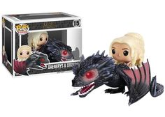 Funko POP Game of Thrones Figures Dragon & Daenerys Rides Dragon Action Figure With Box //Price: $45.30 & FREE Shipping //     #actionfigurecollectors