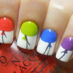 Balloons! - as soon as my nails grow back out I'm trying this