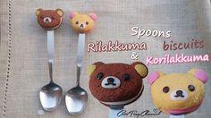 Spoons Rilakkuma and Korilakkuma Biscuits Polymer Clay Tutorial