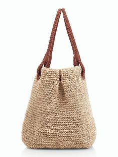 Discover thousands of images about Talbots - Braid-Handle Straw Tote In this post we have listed most beautiful straw handbags ideas for your inspiration. These straw bags are handcrafted with the finest materials. best way to sale jewelry Love the leathe Crochet Tote, Crochet Handbags, Crochet Purses, Straw Handbags, Tote Handbags, Handmade Handbags, Handmade Bags, Straw Tote, Knitted Bags