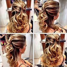 penteado de festa formanda ou madrinha