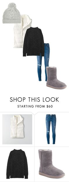 """Winter Aesthetic #2"" by camisteiger ❤ liked on Polyvore featuring American Eagle Outfitters, Frame, TIBI, Koolaburra and The White Company"