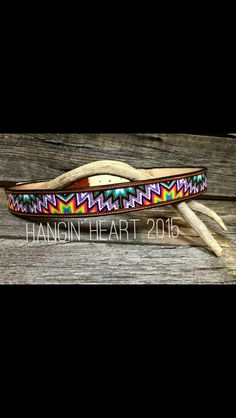 Hanging heart beadwork. Aztec belt.