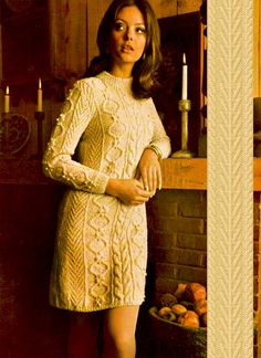 Items similar to PDF Vintage Womens Ladies ARAN Dress Knitting Pattern Larger Sizes like Crochet Dress Mini Go Go Sex Kitten Baby Doll Sweater on Etsy Vogue Vintage, Vintage Ladies, Vintage Fashion, Hippie Chick, Vintage Knitting, Retro Outfits, Knit Dress, Sweater Dresses, Dress First