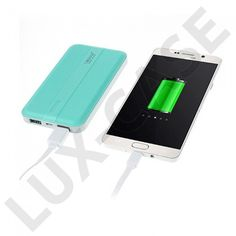 Leyou 10000mAh Power Bank With Two Outputs For Smartphones – Cyan - Power Banks - Övrigt - Fri Frakt