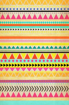 BRIGHT AZTEC Stretched Canvas-> SO using this pattern for a school art prjoect!!!<333333