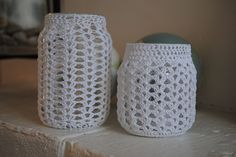 Free Crochet pattern for candlesticks | to do than to make them into gorgeous candle holders