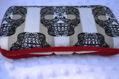 Black and White Skull Baby Diaper Wipe Case by AudgePodgeInc, $11.99