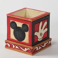 mickey mouse herb planter (jim shore)